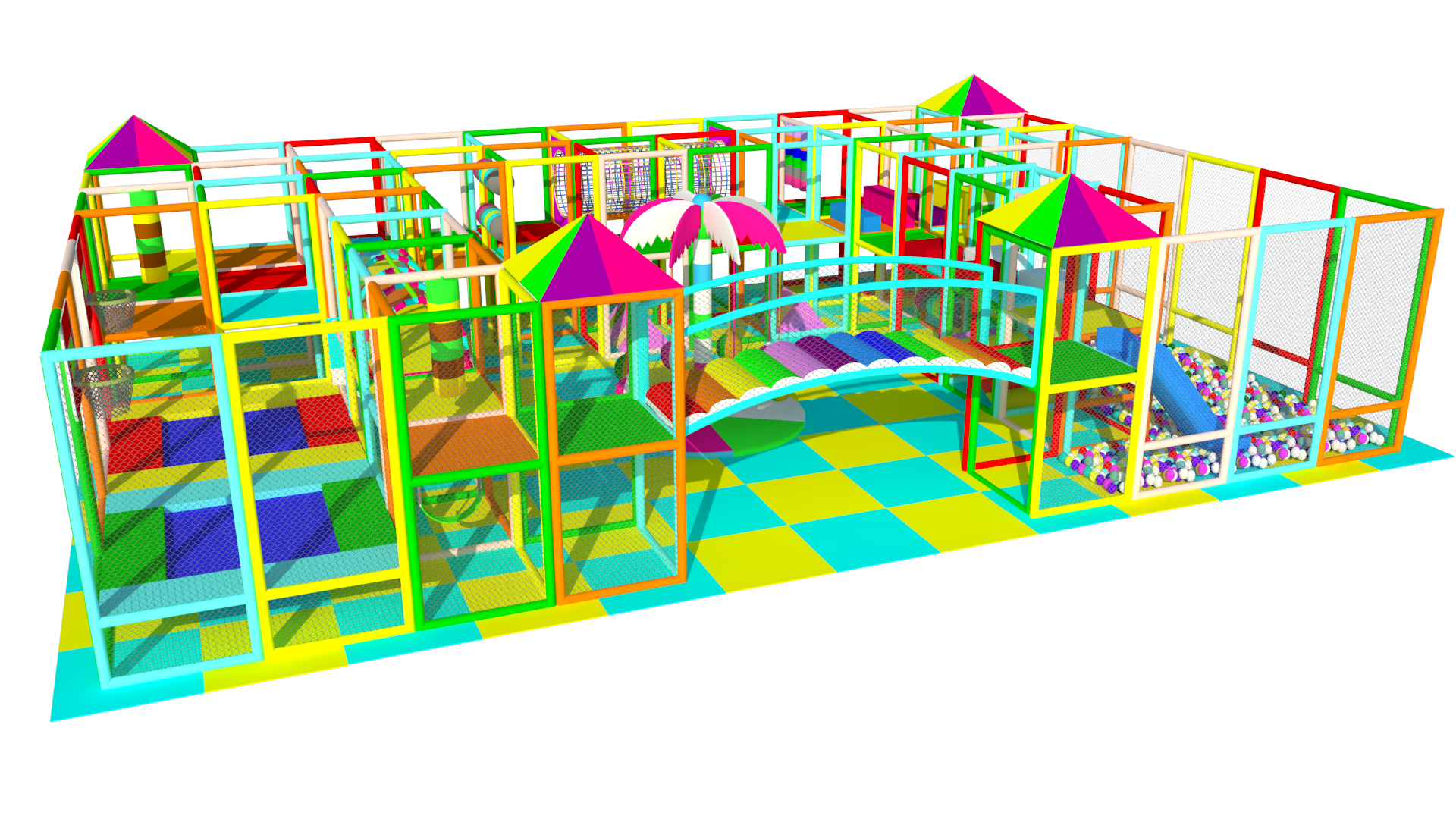 +100 m2 colorful Soft Play Areas